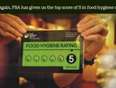 Once again, FSA‬ has given us the top score of 5 in ‪‎foodhygiene‬ rating.
